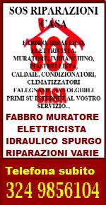 SOS RIPARAZIONI CASA  - Tel. 324 9856104 - RIPARAZIONI URGENTI EDILIZIA - PRONTO INTERVENTO MURATORE FABBRO IDRAULICO ELETTRICISTA FALEGNAME IN TUTTA ITALIA