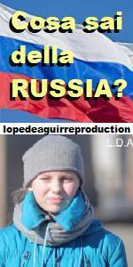 https://lopedeaguirreproduction.wordpress.com/  COSA SAI DELLA RUSSIA?  Tutta la verità sulla Russia, la storia, gli zar, le città di San Pietroburgo e Mosca, tutta la verità su Putin tutta la verità su la Rivoluzione russa  prodotto da LOPE DE AGUIRRE PRODUCTIONS